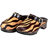 Animal print clogs