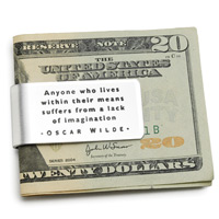 Oscar wild money clip