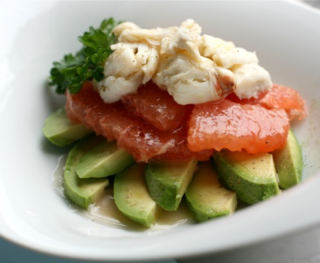 Crab grapefruit avacado salad