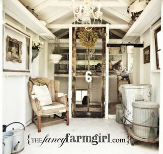 Fancy farm girl coop