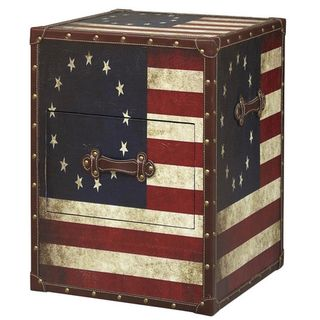 American+Flag+Trunk+Table
