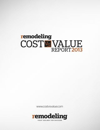 Cost vs Value 2013