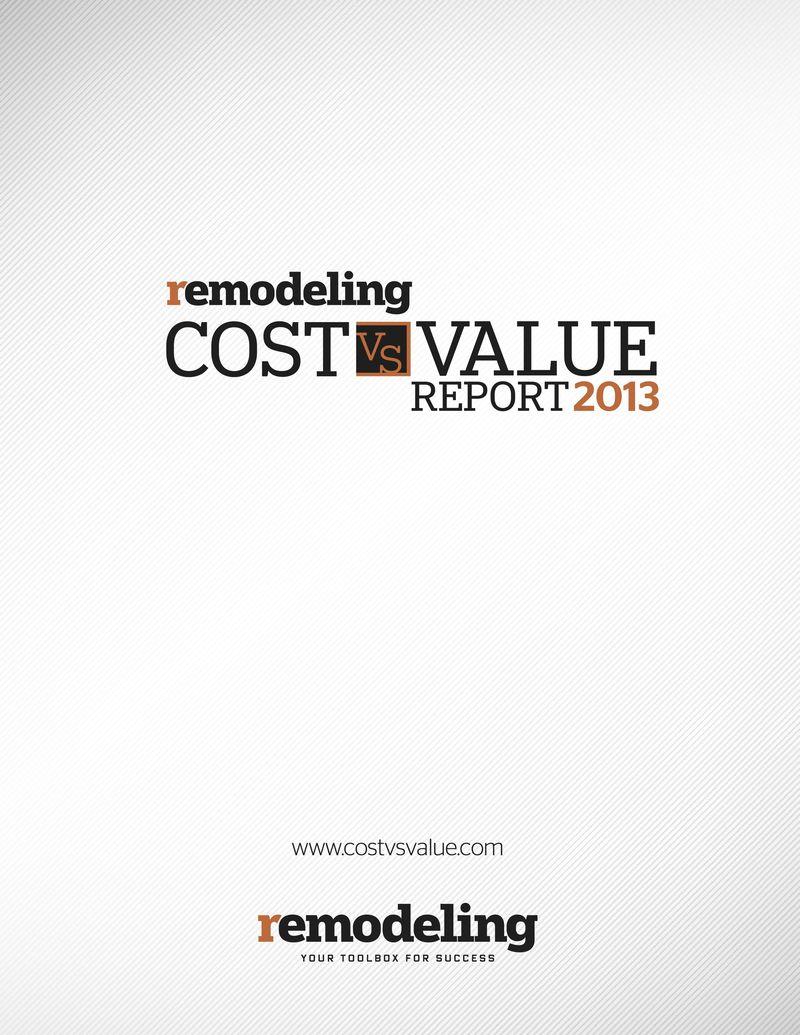 Cost vs Value 2013