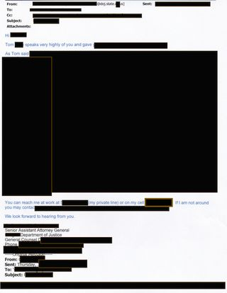 Redacted DOJ introduction from DOJ attorney who interviewed me and  warned me of Oregon gov miscondct after I filed report w:FBI in May 2006 over anonymous threats and sexual harassment